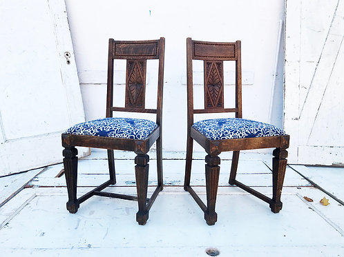 Kinfolk Carved Wood Chairs