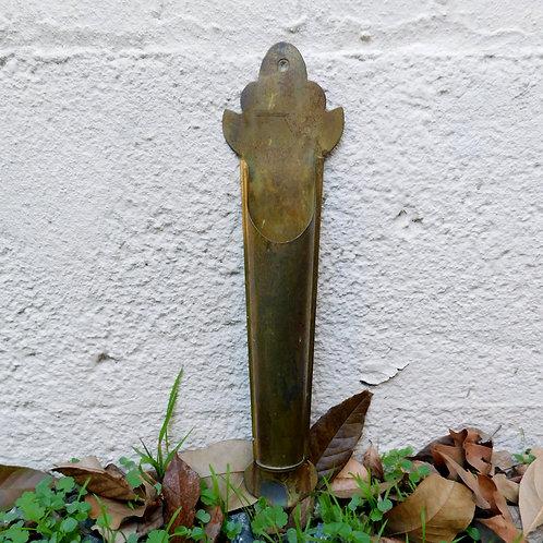 Vintage Brass Patina Wall Incense Holder