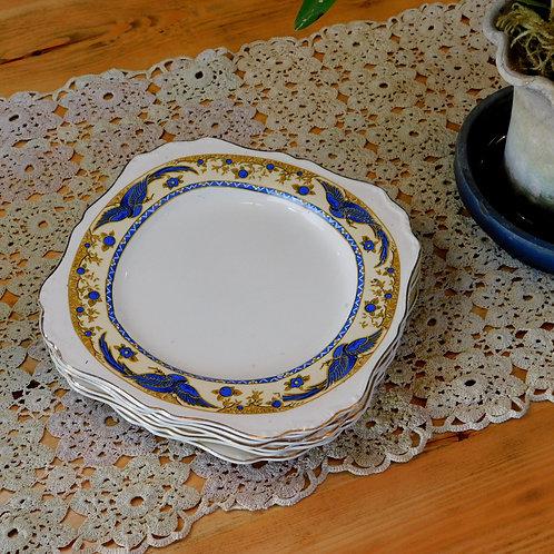 Vintage Blue Bird Dinner Plates (set of 6)