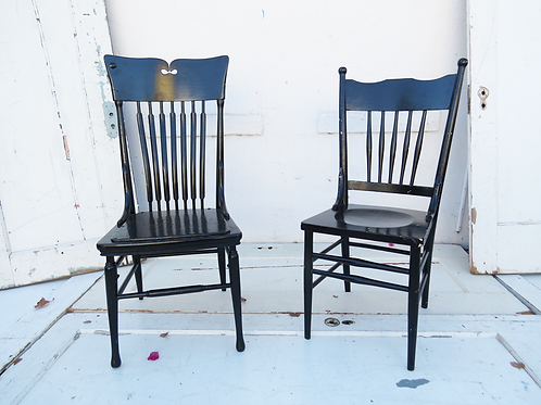 Black Spindle Chair Duo