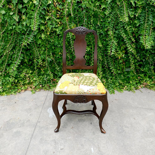 Antique Botanical Cactus Chair