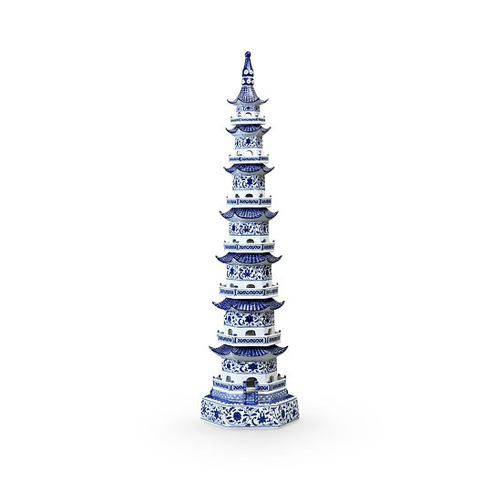 Blue & White Pagoda Tower