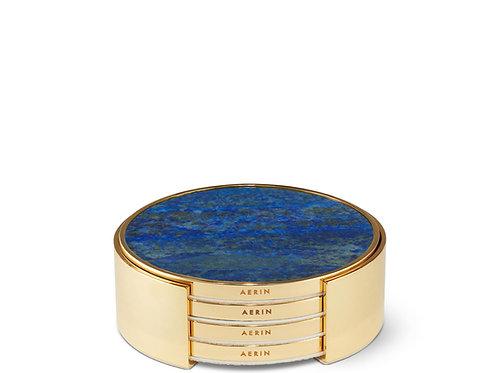 Coaster Set in Lapis Lazuli