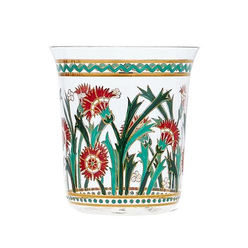Tumbler Persian  flowers Handpainted A