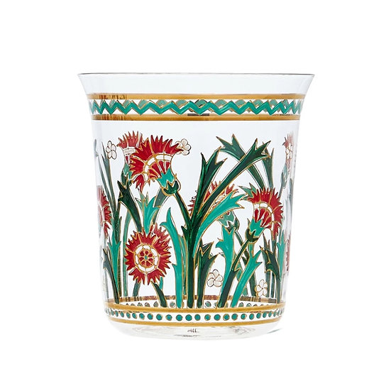 Hand painted Tumbler Persian  flowers