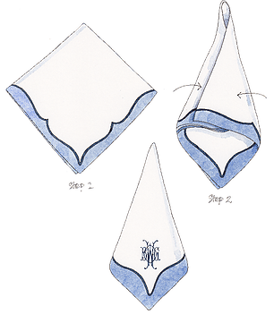 HOW TO FOLD A NAPKIN  - 3 different styles