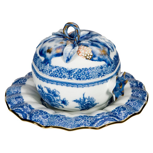 Pomegranate Tureen in porcelaine