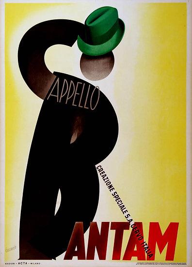 """Italien Stone """" Cappelo Bantam"""" Boccasile c1938"""