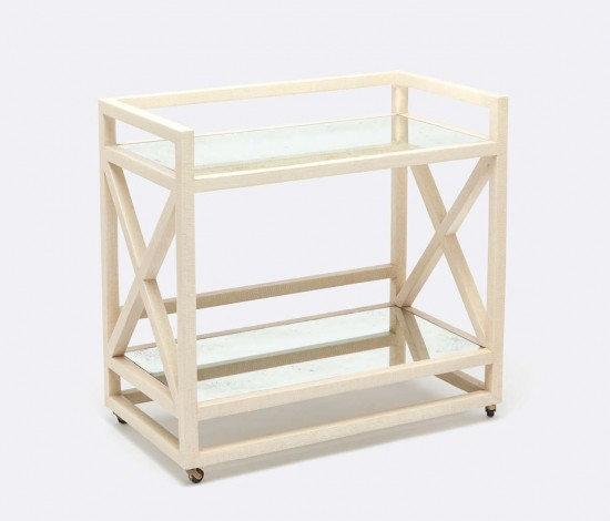 White Bar Cart
