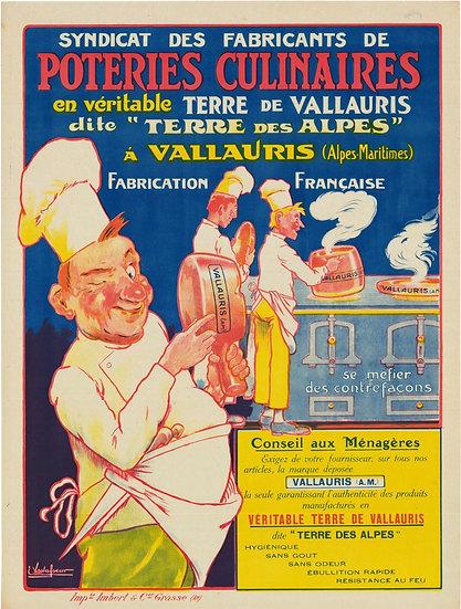 "French Stone Litho ""Poteries Culinaires"" Eugéne Vavasseur C1905"