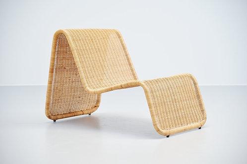 Lounge chair in cane Tito Agnoli P3