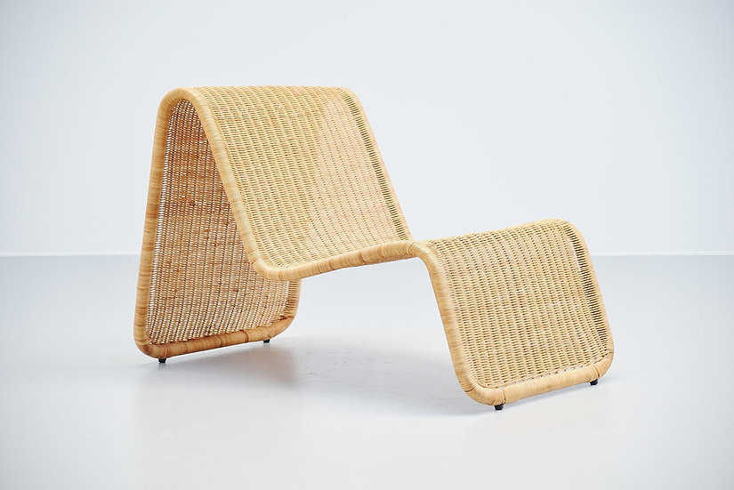 Lounge chair in cane Tito Agnoli P3