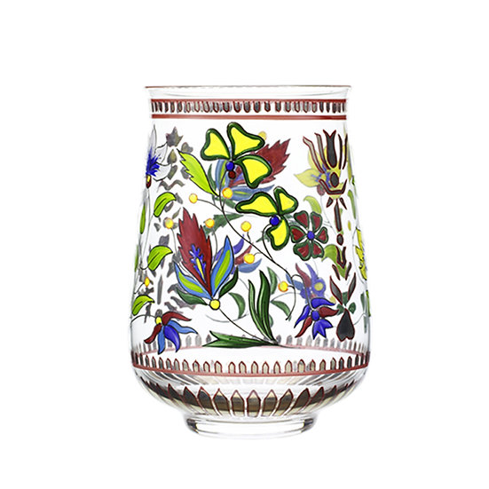 Tumbler Indian Handpainted flowers