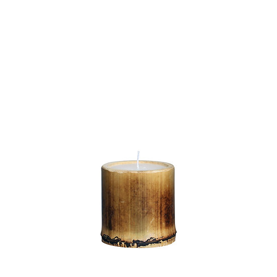 Bamboo candle H10cm