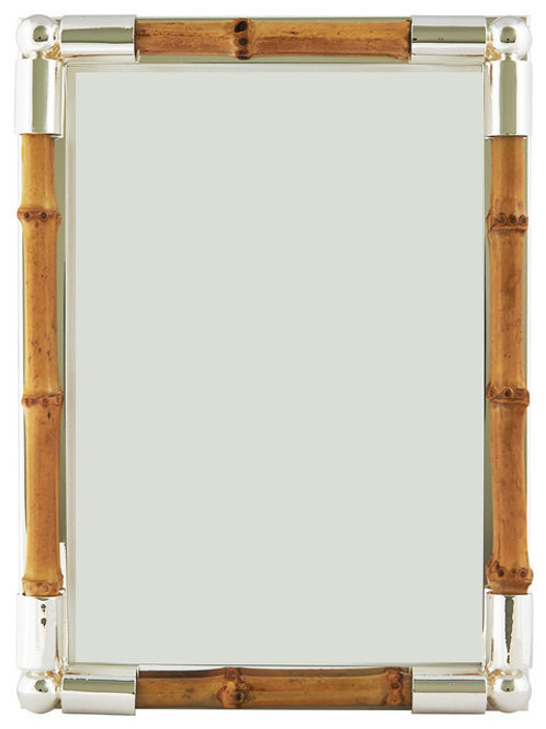 Silver-plated Frame with bamboo
