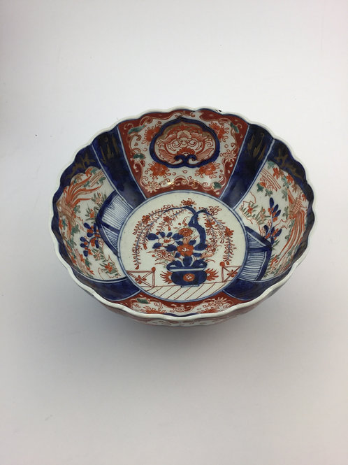 Imari Antique Porcelain Bowl,  19th Century