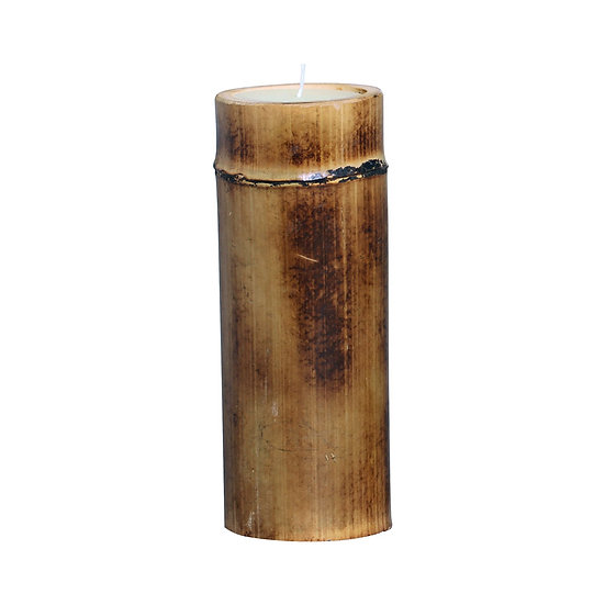 Bamboo candle H27cm