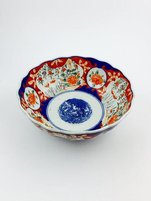 Imari Antique Porcelain Bowl,  19th Century
