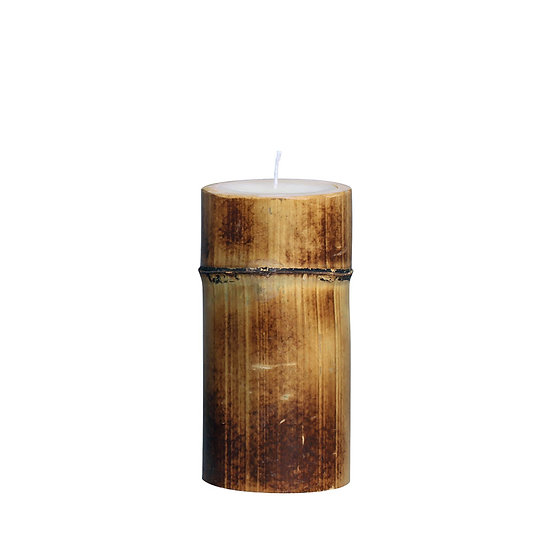 Bamboo candle H20cm