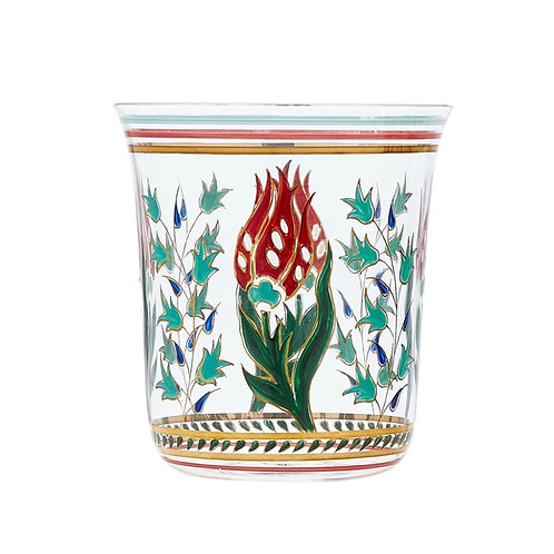 Tumbler Persian flowers Handpainted C