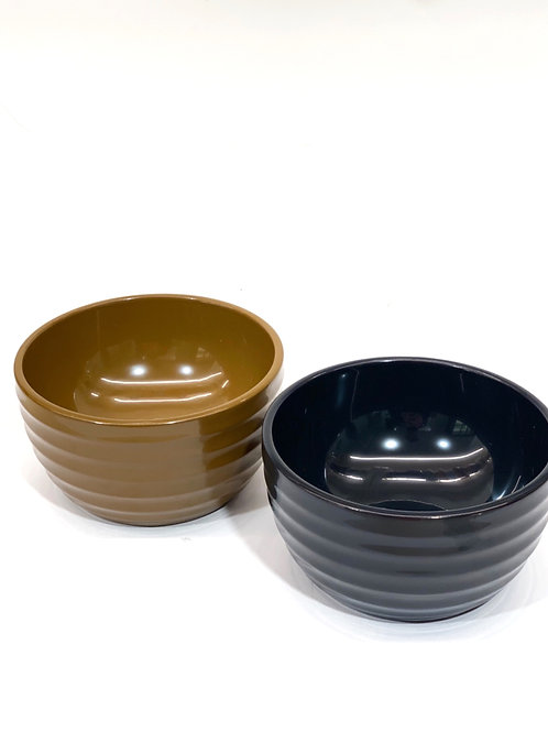 Set of Two Japanese Lacquer Bowls