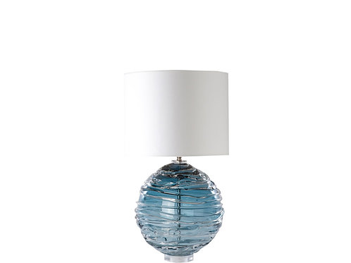 Pair of  handblown blue glass Lamps