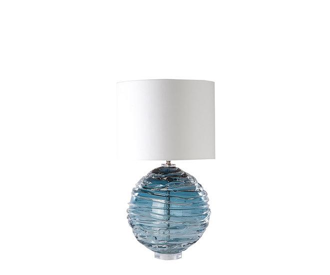 Pair of  handblown blue glass Lamps