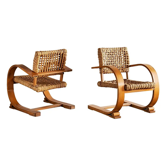 Chairs Pair Audoux Minet Rope