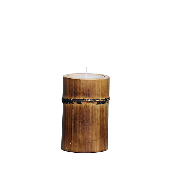 Bamboo candle H16cm