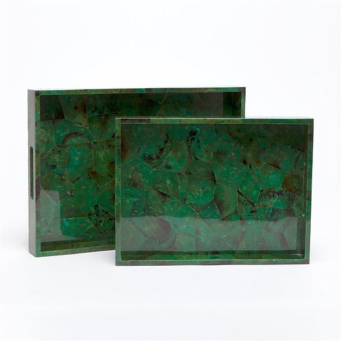 Tray in green eggshell Medium and Large