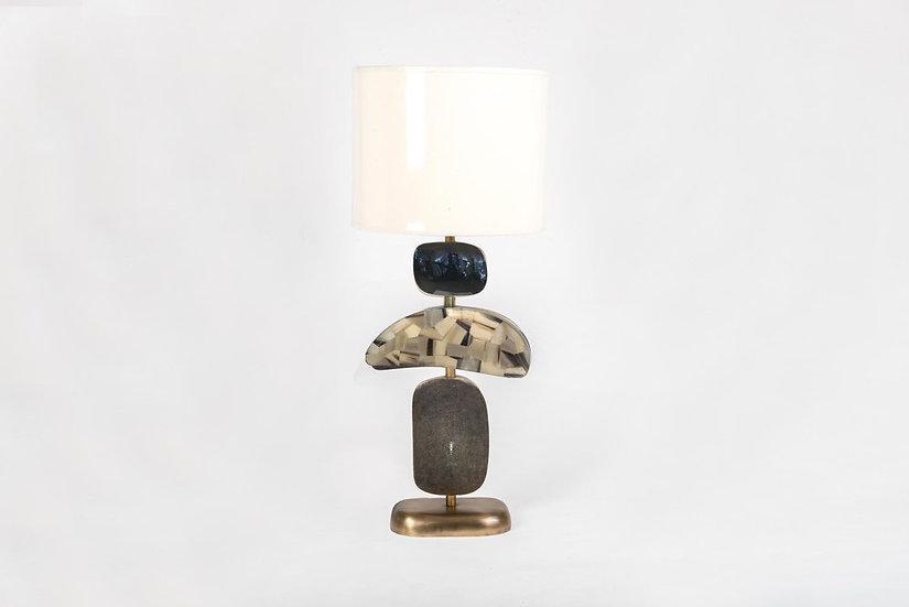 Penshell, Horn & Shagreen Lamp