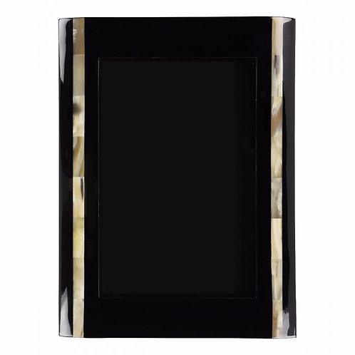 Frame dark marbled and buffalo horn