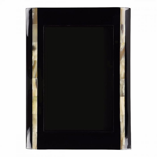 Frame dark marbled and buffalo horn