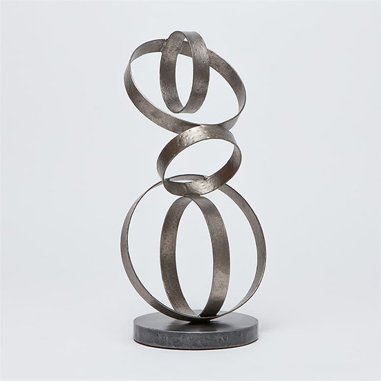 Sculpture of Organically Interlinked Circles