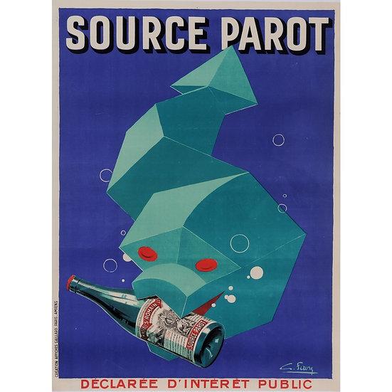 "French Stone Litho ""Source Parot"" Favre c1928"