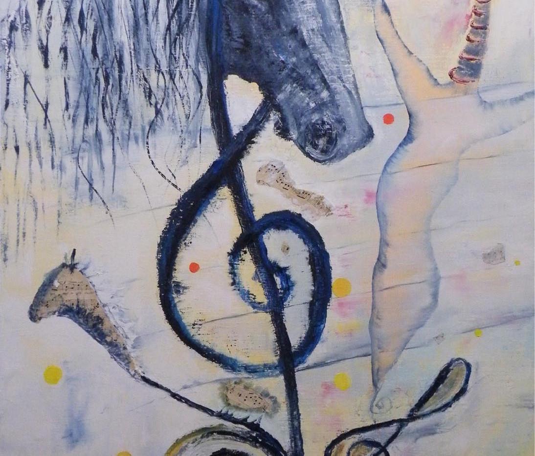 Inattendue Symphonie 116x73 Yvette CAUFR
