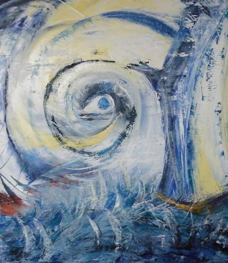 L'oeil de la sagesse 50x50Yvette CAUFRIE