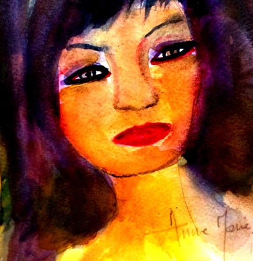 Anne-Marie Caria autoportrait dernier