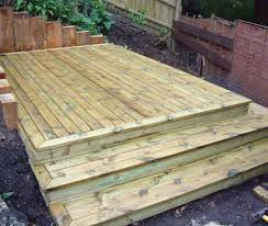 Treated pine decking to elevate the view from your garden