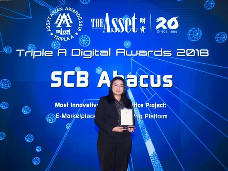 SCB Abacus wins The Asset Triple A Digital Awards 2018 for advanced E-Marketplace Digital Lending Pl