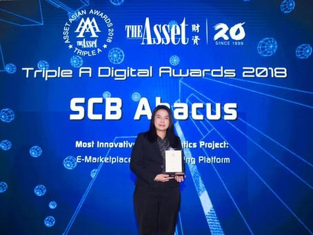 SCB Abacus wins The Asset Triple A Digital Awards 2018 for advanced E-Marketplace Digital Lending Pl