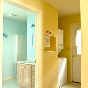 Back Hallway & bathroom