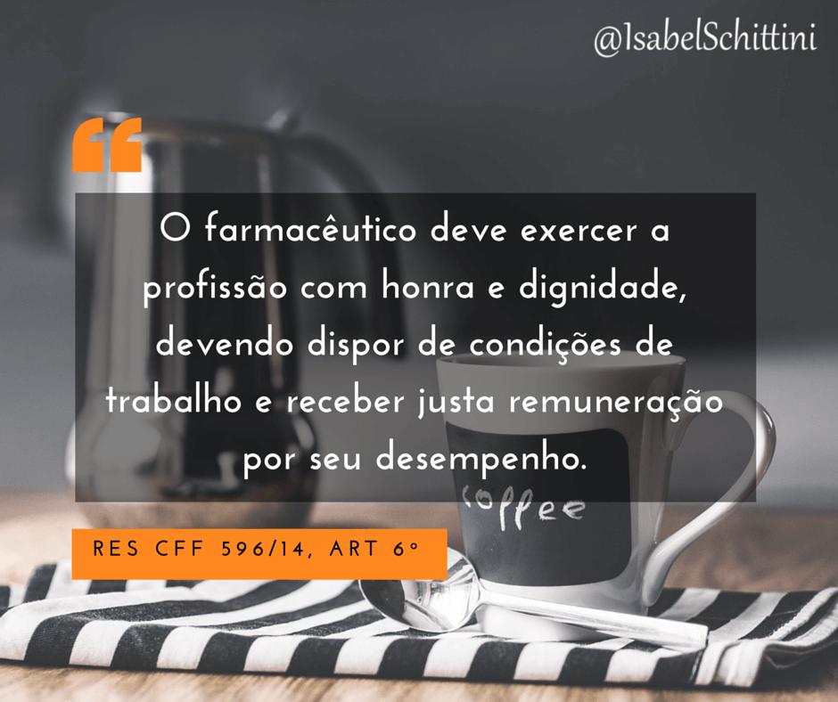 Isabel-Schittini-4Farma-Blog-Código de Ética Farmacêutica-Artigo-6º
