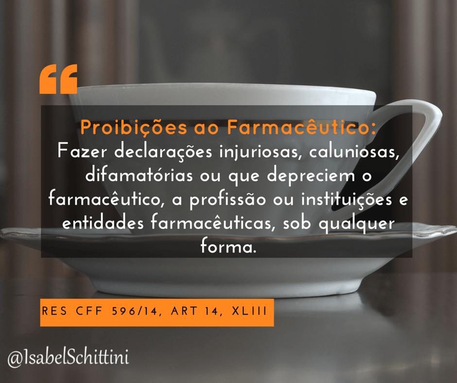 Isabel-schittini-4farma-blog-cff-Código de Ética Farmacêutica-Proibições-Inciso-XLIII