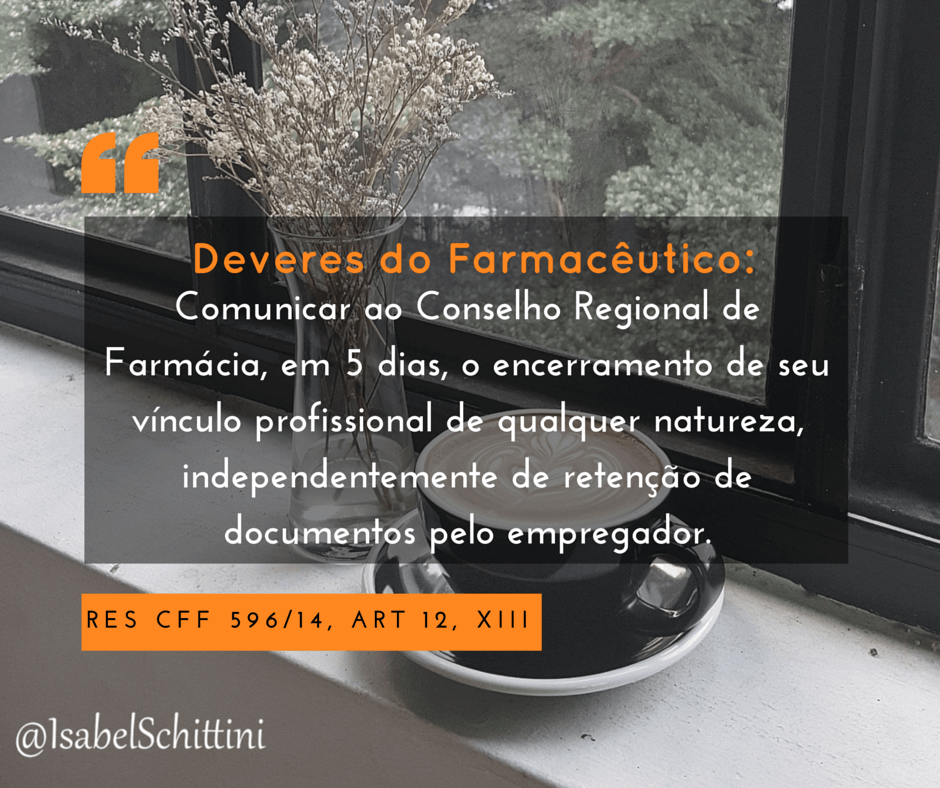 Isabel-schittini-Código de Ética Farmacêutica-Deveres-Inciso-XIII