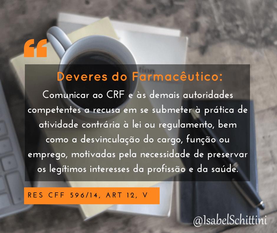 Isabel-schittini-Código de Ética Farmacêutica-Deveres-Inciso-V