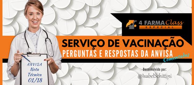 Serviço de Vacinação: Perguntas e Respostas da Anvisa