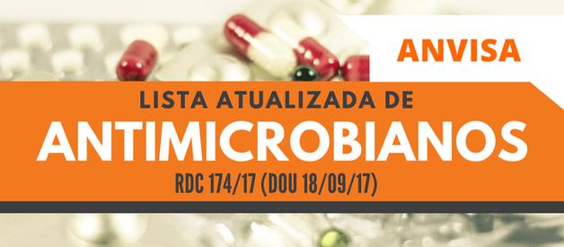 Lista Atualizada de Antimicrobianos