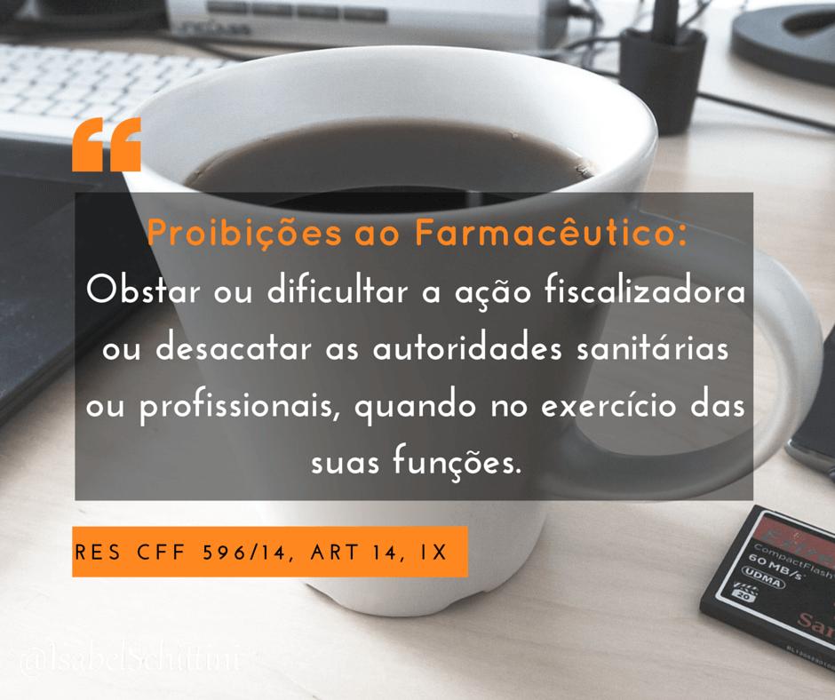 Isabel-schittini-4farma-blog-Código de Ética Farmacêutica-Proibições-Inciso-IX