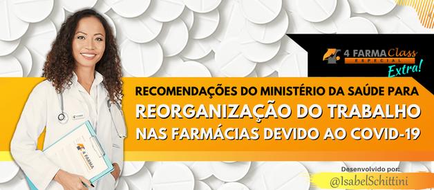 Recomendações do Ministério da Saúde para Farmácias devido ao COVID-19